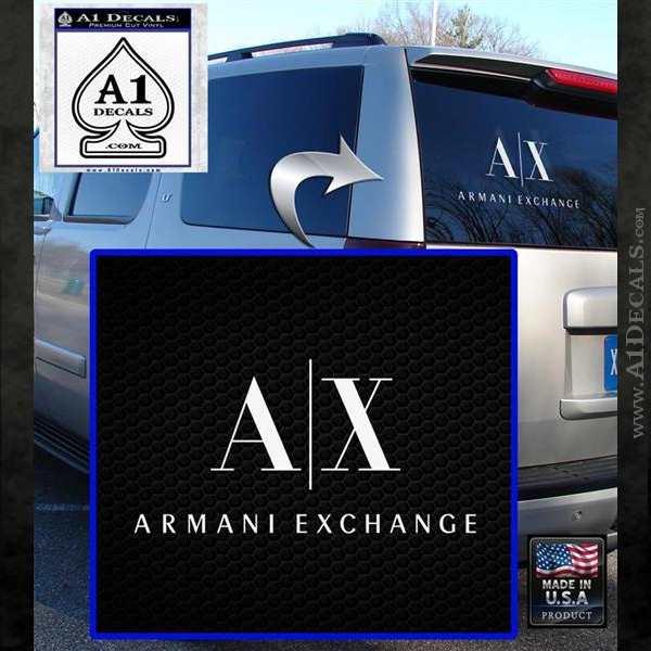 Armani Exchange Logo Decal Sticker 187 A1 Decals