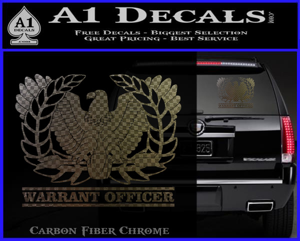 Army Warrant Officer Decal Sticker 187 A1 Decals