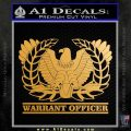 Army Warrant Officer Decal Sticker Metallic Gold Vinyl 120x120