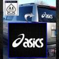 Asics Logo RDZ Decal Sticker White Emblem 120x120