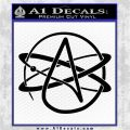 Athiest Atom Symbol Decal Sticker Black Logo Emblem 120x120
