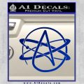 Athiest Atom Symbol Decal Sticker Blue Vinyl 120x120