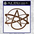 Athiest Atom Symbol Decal Sticker Brown Vinyl 120x120