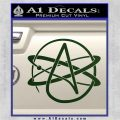 Athiest Atom Symbol Decal Sticker Dark Green Vinyl 120x120