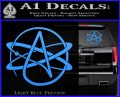 Athiest Atom Symbol Decal Sticker Light Blue Vinyl 120x97