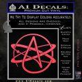 Athiest Atom Symbol Decal Sticker Pink Vinyl Emblem 120x120