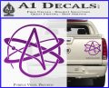 Athiest Atom Symbol Decal Sticker Purple Vinyl 120x97