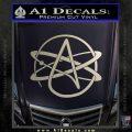 Athiest Atom Symbol Decal Sticker Silver Vinyl 120x120