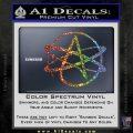 Athiest Atom Symbol Decal Sticker Sparkle Glitter Vinyl 120x120