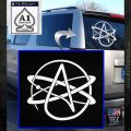 Athiest Atom Symbol Decal Sticker White Emblem 120x120