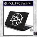 Athiest Atom Symbol Decal Sticker White Vinyl Laptop 120x120