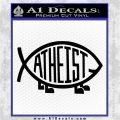 Athiest Jesus Fish Decal Sticker d6 Black Logo Emblem 120x120