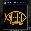 Athiest Jesus Fish Decal Sticker d6 Metallic Gold Vinyl Vinyl 120x120