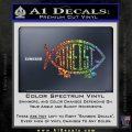 Athiest Jesus Fish Decal Sticker d6 Sparkle Glitter Vinyl 120x120