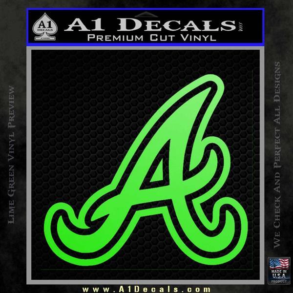 atlanta braves decal sticker a a1 decals. Black Bedroom Furniture Sets. Home Design Ideas