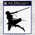 Attack On Titan Annie Leonhart Decal Sticker Black Logo Emblem 120x120