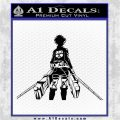 Attack On Titan Eren Jaeger DR Decal Sticker Black Logo Emblem 120x120