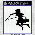 Attack On Titan Mikasa Ackerman Decal Sticker Black Logo Emblem 120x120