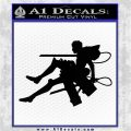 Attack on Titan Jean Kirstein Silhouette Decal Sticker Black Logo Emblem 120x120
