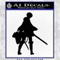 Attack on Titan Levi Silhouette Decal Sticker Black Logo Emblem 120x120