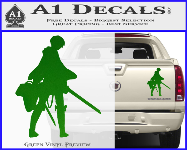 Attack On Titan Levi Silhouette Decal Sticker 187 A1 Decals