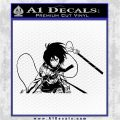 Attack on Titan Mikasa Ackerman D2 Decal Sticker Black Logo Emblem 120x120