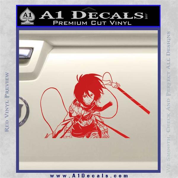 Attack on Titan Mikasa Ackerman D2 Decal Sticker ? A1 Decals