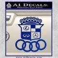 Audi Infinity Lexus Mercedes Cadillac BMW Decal Sticker Mashup Blue Vinyl 120x120