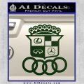 Audi Infinity Lexus Mercedes Cadillac BMW Decal Sticker Mashup Dark Green Vinyl 120x120