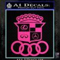 Audi Infinity Lexus Mercedes Cadillac BMW Decal Sticker Mashup Hot Pink Vinyl 120x120