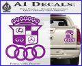 Audi Infinity Lexus Mercedes Cadillac BMW Decal Sticker Mashup Purple Vinyl 120x97