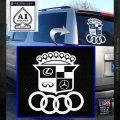 Audi Infinity Lexus Mercedes Cadillac BMW Decal Sticker Mashup White Emblem 120x120