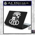 Audi Infinity Lexus Mercedes Cadillac BMW Decal Sticker Mashup White Vinyl Laptop 120x120