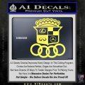 Audi Infinity Lexus Mercedes Cadillac BMW Decal Sticker Mashup Yelllow Vinyl 120x120