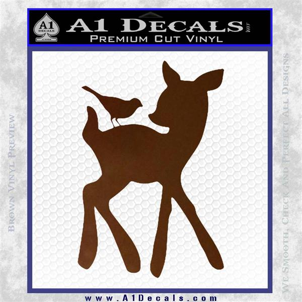 Bambi Decal Sticker D2 Brown Vinyl