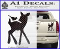 Bambi Decal Sticker D2 Carbon Fiber Black 120x97