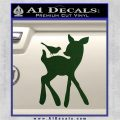 Bambi Decal Sticker D2 Dark Green Vinyl 120x120