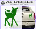 Bambi Decal Sticker D2 Green Vinyl 120x97