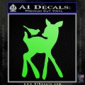 Bambi Decal Sticker D2 Lime Green Vinyl 120x120