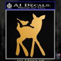 Bambi Decal Sticker D2 Metallic Gold Vinyl 120x120