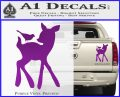 Bambi Decal Sticker D2 Purple Vinyl 120x97