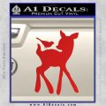 Bambi Decal Sticker D2 Red Vinyl 120x120