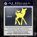 Bambi Decal Sticker D2 Yelllow Vinyl 120x120