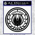 Battlestar Galactica CR6 Decal Sticker BSG Black Logo Emblem 120x120
