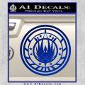 Battlestar Galactica CR6 Decal Sticker BSG Blue Vinyl 120x120