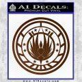 Battlestar Galactica CR6 Decal Sticker BSG Brown Vinyl 120x120
