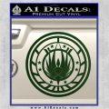 Battlestar Galactica CR6 Decal Sticker BSG Dark Green Vinyl 120x120