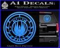 Battlestar Galactica CR6 Decal Sticker BSG Light Blue Vinyl 120x97