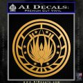 Battlestar Galactica CR6 Decal Sticker BSG Metallic Gold Vinyl 120x120