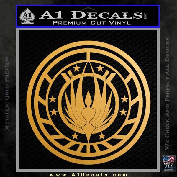 Battlestar Galactica CR6 Decal Sticker BSG Metallic Gold Vinyl